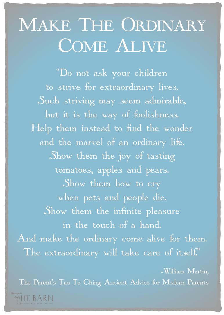 Make The Ordinary Come Alive